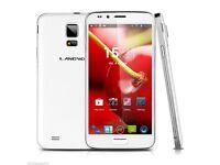5 IN. 3G ANDROID SMART PHONE 1.3GHZ QUAD CORE WHITE DUAL SIM 1GB RAM WIFI GPS UNLOCKED BNIB