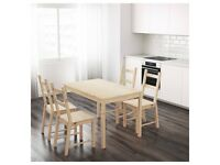 IKEA Kitchen Table + 3 Chairs - ACCEPTING OFFERS - MUST GO BY SATURDAY