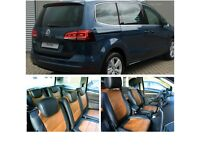 LEATHER CAR SEATCOVERS VOLKSWAGEN SHARAN 2001-2018