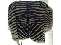 New rug faux fur animal zebra rug IKEA