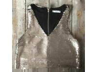 Mango Sequinned Top