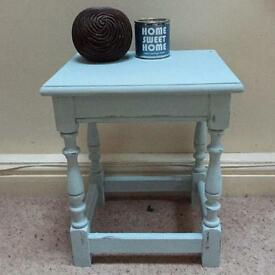 Shabby chic rustic side table