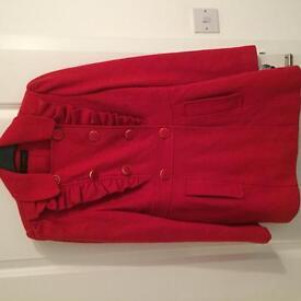 Miss Selfridge coat size 10