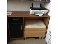 Brown/black desk
