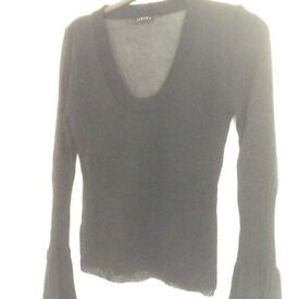 Sisley black evening top Size 10