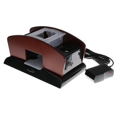 1-2 Deck Wood Card Shuffler Double Use Automatic Playing Shuffling Machine