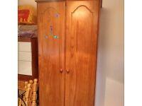 Solid wood wardrobe