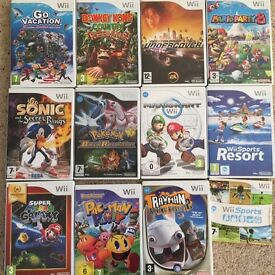 Nintendo Wii Games Bundle, 12 Games