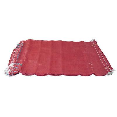 100 Red Net Sacks Mesh Bags Kindling Logs Potatoes Onions 50cm x 80cm / 30Kg