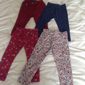 4 pairs of leggings, 12-18 months