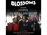 4x Blossoms standing tickets, Invisible Wind Factory Liverpool, Friday 8th June 2018