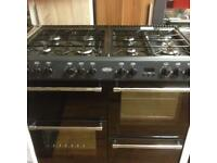 Black 8 burner gas cookers (dual fuel)
