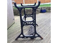Vintage Singer Sewing Machine Treadle Cast Iron Frame