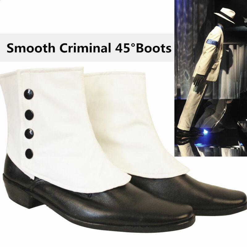MJ Michael Jackson SMOOTH CRIMINAL Easy 45 Degrees Leaning Dancing Shoes Boots