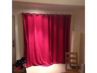 Wine colour curtains Long 2.2 metre drop and lined.