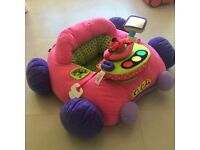 Soft pink car toy