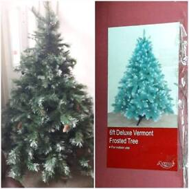 6ft frosted Xmas tree