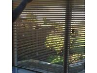 Oak wooden slat Venetian blind