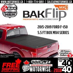 BAKFlip MX4 5.5 ft Hard Folding Tonneau Cover for 2015-2019 Ford F-150 | Free Shipping