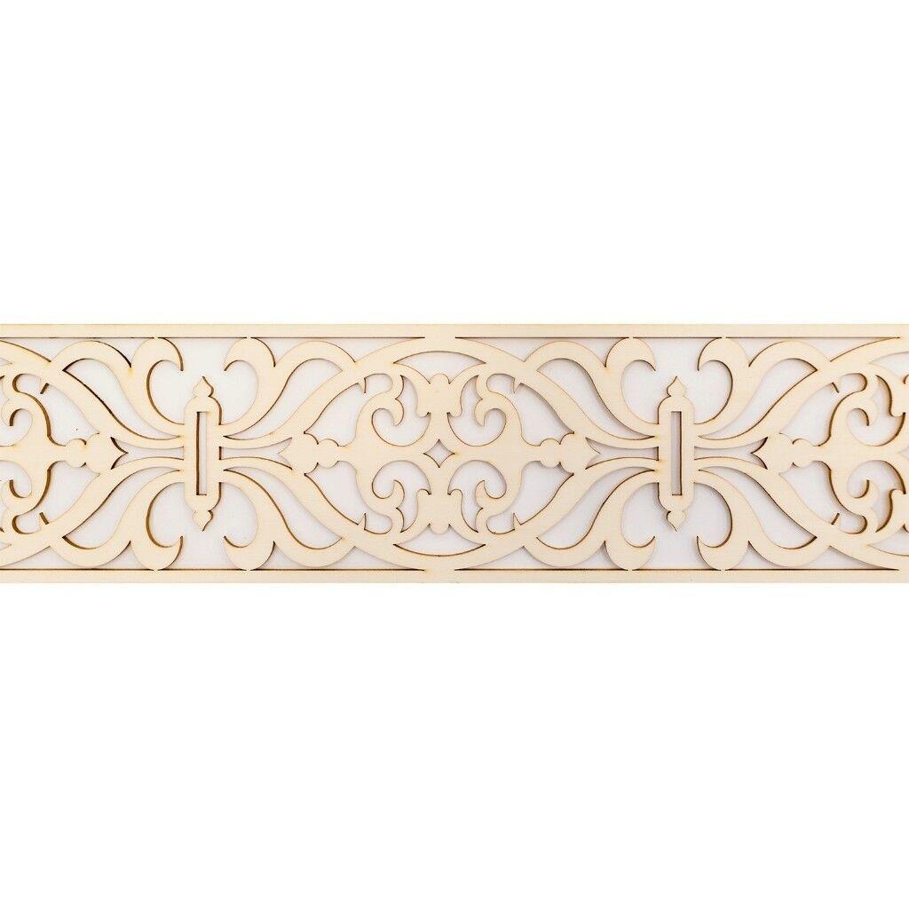 Laser Cut Moroccan Wood 3 Diff Sizes Decorative Wood Dado Trim