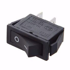 ON-OFF 2 Position SPST 2 Pin Snap in Rocker Switch 16A/250V 20A/125V AC