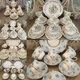 Variety of Vintage English China Tea Sets