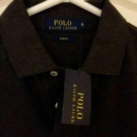 Mens/Boys Ralph Lauren charcoal grey polo shirt. New