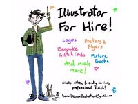 Illustrator and Designer for hire - Posters, Picture Books, Logos and More!