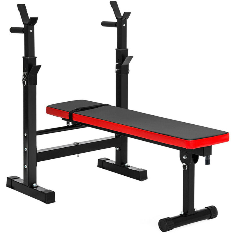 Weight Training Bench Heavy Duty Steel Gym Equipment Barbell