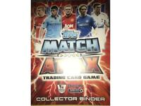 Almost full collection of topps match attax from the 2012/13 premier league season