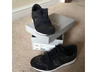 Carvella Kurt Geiger blue sequin trainers size 38