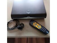 Sky + HD box with power lead and remote controller