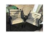 Bench seats wrought iron