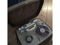 "Vintage ""reel to reel"" electric tape recorder, working order, 1960s, ""Stellaphone"" brand"