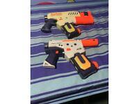 Two nerf water guns