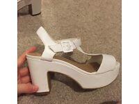 Size 4 white heels