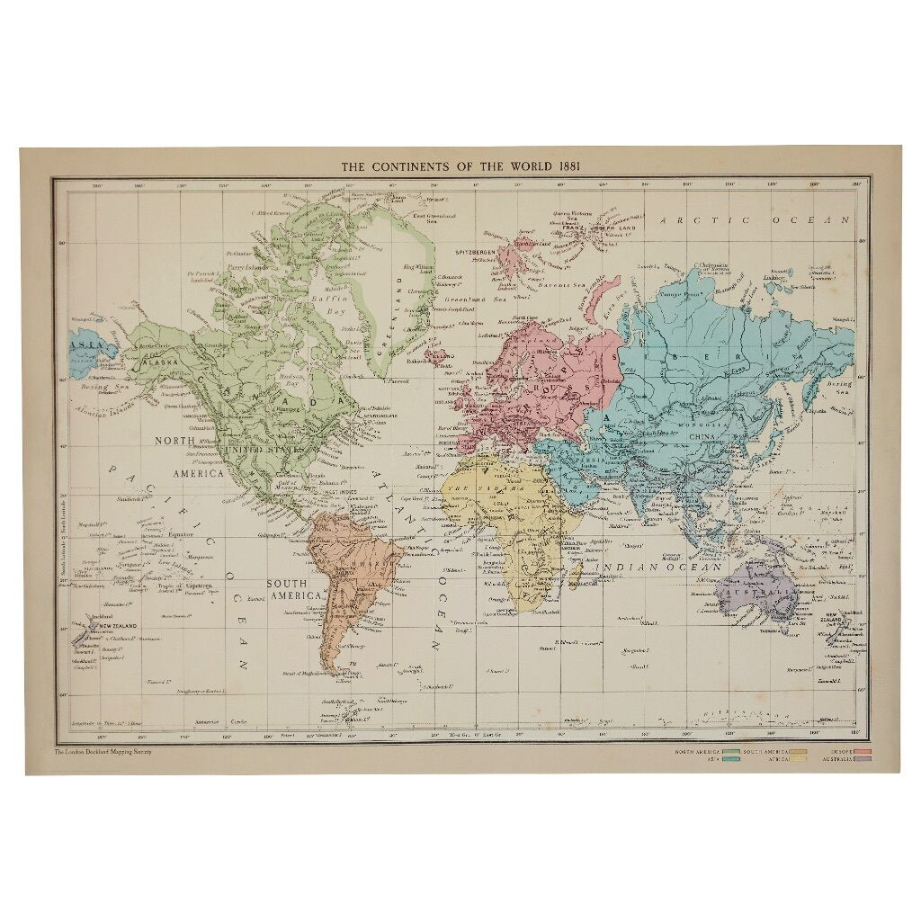 The continents of the world poster size a1 in trafford the continents of the world poster size a1 gumiabroncs Choice Image