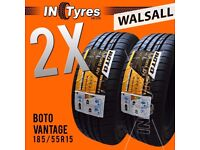 2x New 185/55R15 BUDGET 185 55 15 Fitting Available