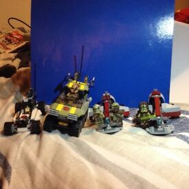 Various Lego Vehicles and Figures