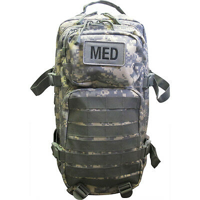 Tactical Trauma Kit #3 First Aid Kit w/ Backpack STOCKED Medic Survival Bag ACU-