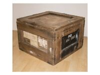 Wooden Box Crate Trunk