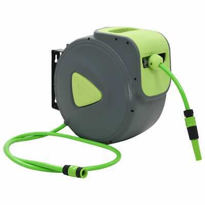 vidaXL Automatic Retractable Water Hose Reel Wall Mounted 30+2m Storage Garden