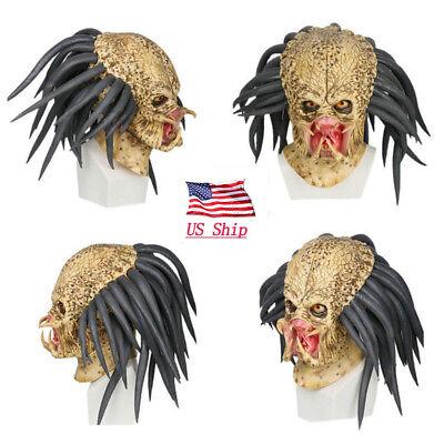 Halloween Predator Maske (Predator Cosplay Mask Helmet Antenna Halloween Party Horror Xcoser Props US)
