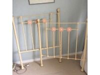Feather and Black classic single iron bed and frame. Excellent condition.
