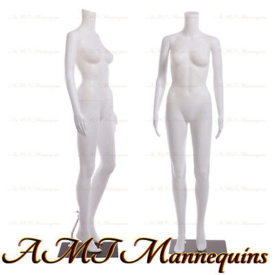 Female Display Mannequinstand Manequin Dressform White Plastic Manikin-fb-7w