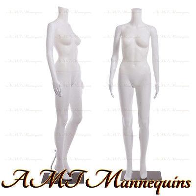 Female Display Mannequinstand Manequin Dressform White Plastic Manikin-fb-7w