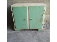 Rustic Vintage Chippy Green Cupboard, Shabby Kitchen Storage