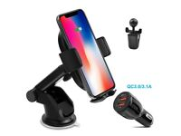 Qi Wireless Car Charger, Car Charger Phone Holder with Air Vent Stand