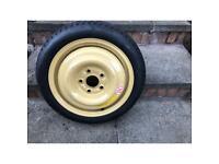 Temporary emergency spare wheel