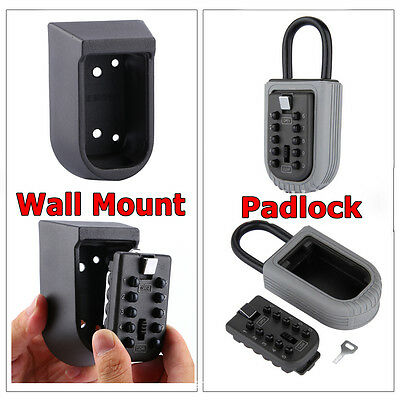 3 Style Security Outdoor Wall Mount Key Lock Storage Box Password Safe Box Tool